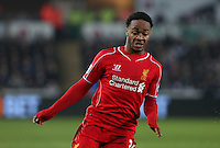 SWANSEA, WALES - MARCH 16: Raheem Sterling of Liverpool in action during the Premier League match between Swansea City and Liverpool at the Liberty Stadium on March 16, 2015 in Swansea, Wales