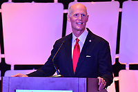 Washington, DC - March 6, 2019: U.S. Sen. Rick Scott speaks at Legislative Summit co-hosted by The Latino Coalition and Job Creators Network at the Park Hyatt Hotel in Washington, D.C. March 6, 2019.  (Photo by Don Baxter/Media Images International)