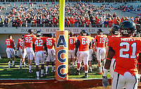 CHARLOTTESVILLE, VA- NOVEMBER 12:  The Virginia Cavaliers walk into the locker room before the game against the Duke Blue Devils on November 12, 2011 at Scott Stadium in Charlottesville, Virginia. Virginia defeated Duke 31-21. (Photo by Andrew Shurtleff/Getty Images) *** Local Caption ***