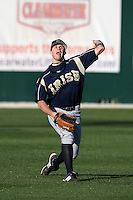 February 26, 2010:  Outfielder Matt Grosso of the Notre Dame Fighting Irish during the Big East/Big 10 Challenge at Jack Russell Stadium in Clearwater, FL.  Photo By Mike Janes/Four Seam Images