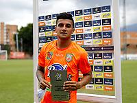 ENVIGADO - COLOMBIA, 28–02-2021: Yeison Guzman de Envigado F. C. es el jugador del partido entre Envigado F. C. y Deportivo Independiente Medellin de la fecha 10 por la Liga BetPlay DIMAYOR I 2021, en el estadio Polideportivo Sur de la ciudad de Envigado. / Yeison Guzman of Envigado F. C. is the player of the match between Envigado F. C. and Deportivo Independiente Medellin of 10th date for the BetPlay DIMAYOR I 2021 League at the Polideportivo Sur stadium in Envigado city. Photo: VizzorImage / Juan A. Cardona / Cont.
