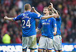 St Johnstone v Aberdeen...13.04.14    William Hill Scottish Cup Semi-Final, Ibrox<br /> David Wotherspoon and Brian Easton celebrate<br /> Picture by Graeme Hart.<br /> Copyright Perthshire Picture Agency<br /> Tel: 01738 623350  Mobile: 07990 594431