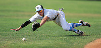 Villa Park's Alex Sosnowski dives unsuccessfully after a base hit into left field during the game against Foothill on Friday.