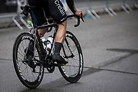Aidis Kruopis' (LVA/Veranda's Willems-Crelan) calves<br /> <br /> <br /> Binckbank Tour 2017 (UCI World Tour)<br /> Stage 4: Lanaken > Lanaken (BEL) 155km
