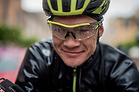 Christopher Juul-Jensen (DEN/Mitchelton-Scott) post-finish & still able to smile after a super soaking stage 5<br /> <br /> Stage 5: Frascati to Terracina (140km)<br /> 102nd Giro d'Italia 2019<br /> <br /> ©kramon