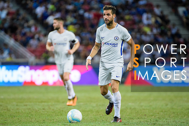 Chelsea Midfielder Cesc Fabregas in action during the International Champions Cup 2017 match between FC Internazionale and Chelsea FC on July 29, 2017 in Singapore. Photo by Weixiang Lim / Power Sport Images