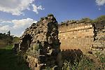"Israel, Beth Shean valley. The Roman ""Truncated Bridge"" over the Harod stream"