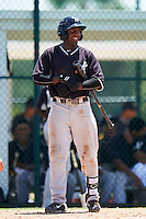 GCL Yankees East third baseman Yeison Corredera (87) during a game against the GCL Pirates on August 15, 2016 at the Pirate City in Bradenton, Florida.  GCL Pirates defeated GCL Yankees East 5-2.  (Mike Janes/Four Seam Images)