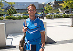 FC Luzern v St Johnstone...16.07.14  Europa League 2nd Round Qualifier<br /> Chris Millar pictured at Basel airport in Switzerland ahead of tomorrow's game against FC Luzern<br /> Picture by Graeme Hart.<br /> Copyright Perthshire Picture Agency<br /> Tel: 01738 623350  Mobile: 07990 594431