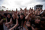 The crowd enjoying proceedings at the Soundwave Festival, Melbourne, 4 March 2011
