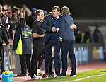 Hearts v St Johnstone…05.11.16  Tynecastle   SPFL<br />Tommy Wright and Robbie Neilson shake hands at full time<br />Picture by Graeme Hart.<br />Copyright Perthshire Picture Agency<br />Tel: 01738 623350  Mobile: 07990 594431
