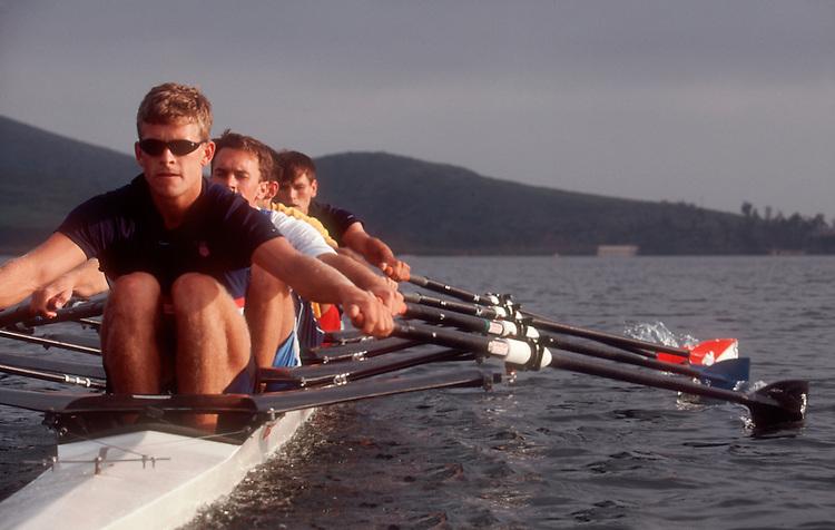 Rowing, Men's quad, US National Team, Otay Lake, California, Arco Olympic Training Center, Chula Vista, San Diego, California, USA,.