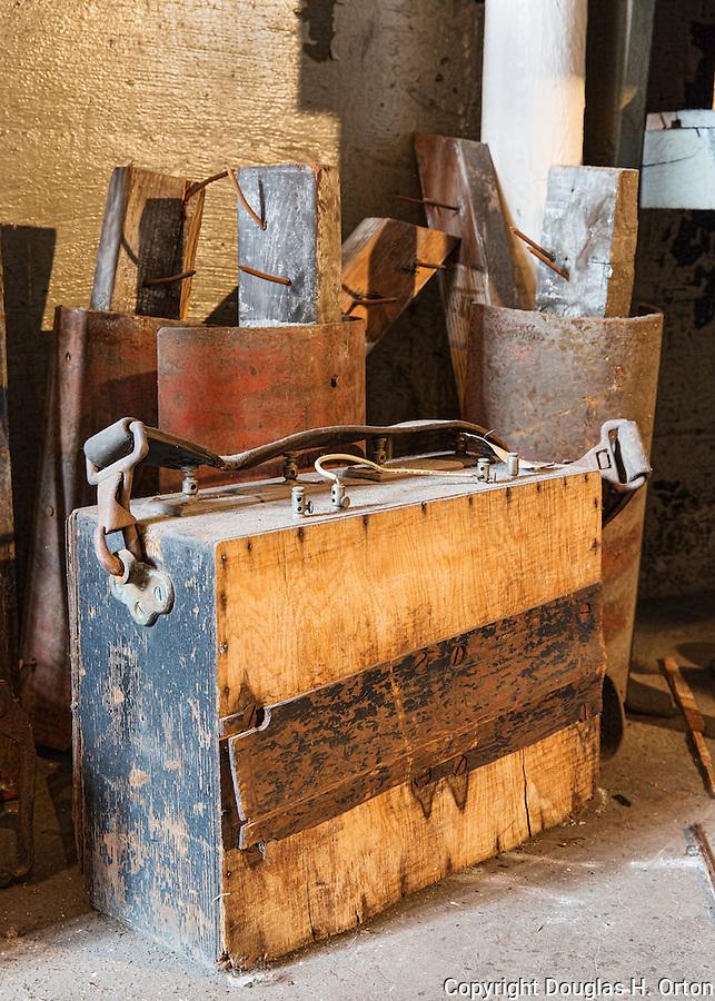 Vintage electrical test equipment. Steam geneator,steam turbine, Seattle, WA, Georgetown Steam Plant, a National Historic Landmark in Seattle, WA USA