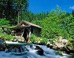 Oesterreich, Salzburger Land, Gollinger Wassermuehle im Tennengau | Austria, Salzburger Land, Golling water mill