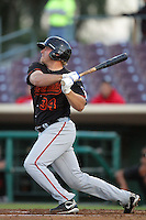 May 26, 2010: Chris Gradoville of the Bakersfield Blaze during game against the Inland Empire 66'ers at Arrowhead Credit Union Park in San Bernardino,CA.  Photo by Larry Goren/Four Seam Images