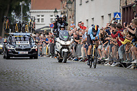 Wout Van Aert (BEL/Jumbo Visma)<br /> <br /> 88th UCI Road World Championships 2021 – ITT (WC)<br /> Men's Elite Time trial from Knokke-Heist to Brugge (43.3km)<br /> <br /> ©Kramon