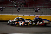 #4: Todd Gilliland, Kyle Busch Motorsports, Toyota Tundra JBL/SiriusXM and #18: Noah Gragson, Kyle Busch Motorsports, Toyota Tundra Safelite AutoGlass