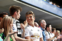 Swansea fans   during the Barclays Premier League match between  Chelsea and Swansea  played at Stamford Bridge, London