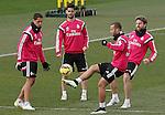 Real Madrid's James Rodriguez, Isco, Jese Rodriguez and Asier Illarramendi during training session.January 30,2015.(ALTERPHOTOS/Acero)