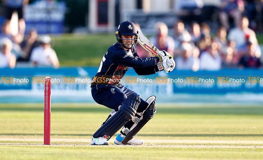 Marcus O'Riordan hits out for Kent during Kent Spitfires vs Sussex Sharks, Vitality Blast T20 Cricket at The Spitfire Ground on 18th July 2021