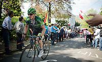 Cyril Gautier (FRA/Europcar) up the Mur de Huy<br /> <br /> La Flèche Wallonne 2014