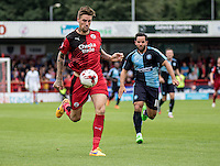 Sonny Bradley of Crawley Town during the Sky Bet League 2 match between Crawley Town and Wycombe Wanderers at Checkatrade.com Stadium, Crawley, England on 29 August 2015. Photo by Liam McAvoy.
