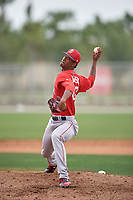 Boston Red Sox pitcher Gerson Bautista (87) during a minor league Spring Training intrasquad game on March 31, 2017 at JetBlue Park in Fort Myers, Florida. (Mike Janes/Four Seam Images)