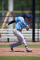 Tampa Bay Rays Luis Leon (97) during a Minor League Extended Spring Training game against the Atlanta Braves on April 15, 2019 at CoolToday Park Training Complex in North Port, Florida.  (Mike Janes/Four Seam Images)