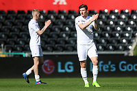SWANSEA, WALES - MARCH 25: Adnan Maric of Swansea City applauds the fans after the final whistle of the Premier League International Cup Semi Final match between Swansea City and Porto at The Liberty Stadium on March 25, 2017 in Swansea, Wales. (Photo by Athena Pictures)Athena Pictures)