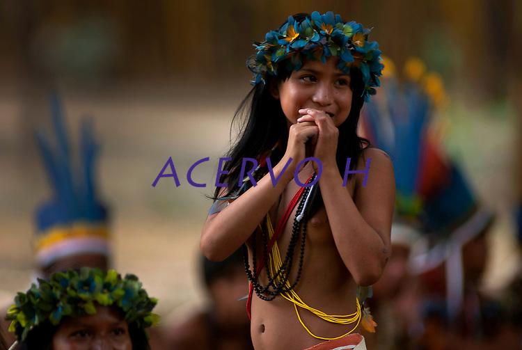 """X JOGOS DOS POVOS INDÕGENAS <br /> Os Jogos dos Povos IndÌgenas (JPI) chegam a sua dÈcima ediÁ""""o. Neste ano 2009, que acontecem entre os dias 31 de outubro e 07 de novembro. A data escolhida obedece ao calend·rio lunar indÌgena. com participaÁ""""o  cerca de 1300 indÌgenas, de aproximadamente 35 etnias, vindas de todas as regiıes brasileiras. <br /> Paragominas , Par·, Brasil.<br /> Foto Paulo Santos<br /> 03/11/2009"""