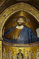 Mosaik im Dom in Monreale, Sizilien, Italien, UNESCO-Weltkulturerbe
