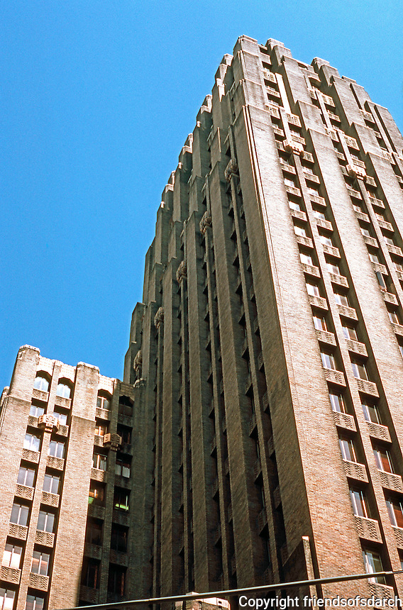 Seattle: Seattle Tower, 1928-29. (Originally Northern Life Building) 27 story Art Deco skyscraper. Albertson, Wilson & Richardson.   Photo '86.