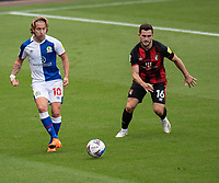 Blackburn Rovers' Lewis Holtby (left) crosses the ball despite the attentions of  Bournemouth's Lewis Cook (right) <br /> <br /> Photographer David Horton/CameraSport <br /> <br /> The EFL Sky Bet Championship - Bournemouth v Blackburn Rovers - Saturday September 12th 2020 - Vitality Stadium - Bournemouth<br /> <br /> World Copyright © 2020 CameraSport. All rights reserved. 43 Linden Ave. Countesthorpe. Leicester. England. LE8 5PG - Tel: +44 (0) 116 277 4147 - admin@camerasport.com - www.camerasport.com