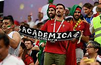 SARANSK - RUSIA, 25-06-2018: Hinchas de Portugal animan a su equipo durante partido de la primera fase, Grupo B, entre RI de Irán y Portugal por la Copa Mundial de la FIFA Rusia 2018 jugado en el estadio Mordovia Arena en Saransk, Rusia. / Fans of Portugal cheer for their team during the match between IR Iran and Portugal of the first phase, Group B, for the FIFA World Cup Russia 2018 played at Mordovia Arena stadium in Saransk, Russia. Photo: VizzorImage / Julian Medina / Cont
