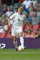 Kelly Smith of Great Britain - Great Britain Women vs New Zealand Women - Womens Olympic Football Tournament London 2012 Group E at the Millenium Stadium, Cardiff, Wales - 25/07/12 - MANDATORY CREDIT: Gavin Ellis/SHEKICKS/TGSPHOTO - Self billing applies where appropriate - 0845 094 6026 - contact@tgsphoto.co.uk - NO UNPAID USE.