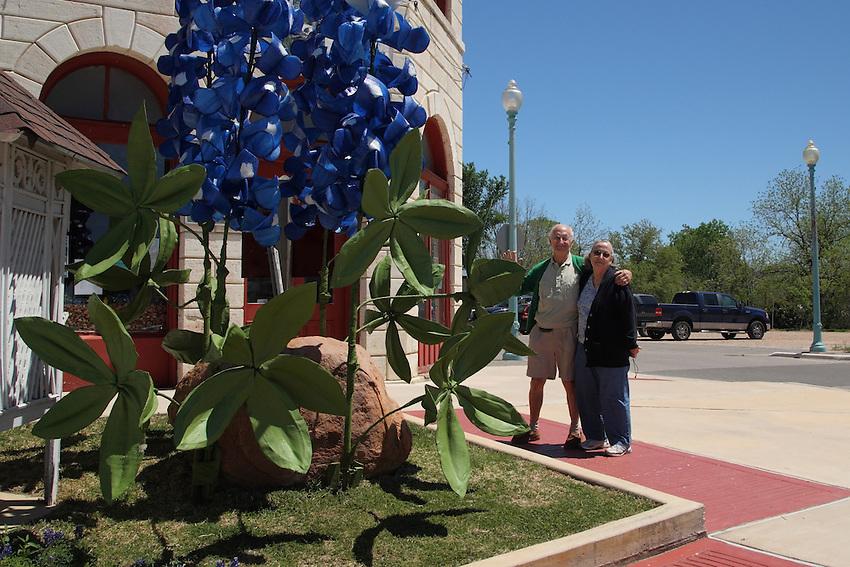 Giant Bluebonnet during the Bluebonnet Festival in Burnet, Texas.