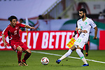 Mohammed Al Fatil of Saudi Arabia (R) competes for the ball with Ri Chang Ho of North Korea during the AFC Asian Cup UAE 2019 Group C match between Saudi Arabia (KSA) and North Korea (PRK) at Rashid Stadium on 08 January 2019 in Dubai, United Arab Emirates. Photo by Marcio Rodrigo Machado / Power Sport Images