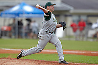 USF Bulls pitcher Ray Delphey #5 delivers a pitch during a game against the Ohio State Buckeyes at the Big Ten/Big East Challenge at Walter Fuller Complex on February 17, 2012 in St. Petersburg, Florida.  (Mike Janes/Four Seam Images)
