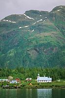 Tatitlek native village, Russian Orthodox church, Eastern Prince William Sound, Alaska