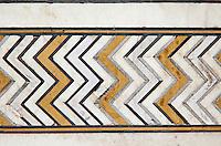 Agra, India. Geometric Design on Wall of the Taj Mahal Mausoleum.