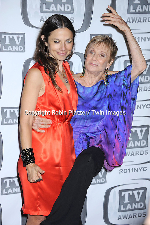 Justine Bateman and Cloris Leachman attending The TV Land Awards 2011 .on April 10, 2011 at the Jacob Javits Center in New York City.