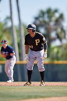 Pittsburgh Pirates Yoel Gonzalez (97) during a minor league Spring Training game against the Atlanta Braves on March 13, 2018 at Pirate City in Bradenton, Florida.  (Mike Janes/Four Seam Images)
