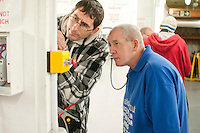 Student electrician with an instructor Able Skills, Dartford, Kent.