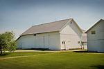 White barn on Ault Road, Sandusky County, Ohio.