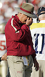 FSU head coach Bobby Bowden did not have a good day  as the Seminoles lost to the Gators 34-7 at The Swamp in Gainesville, Florida, November 26, 2005.   (Mark Wallheiser/TallahasseeStock.com)