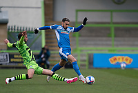 Match action during the Sky Bet League 2 match between Forest Green Rovers and Barrow at The New Lawn, Nailsworth on Tuesday 27th April 2021. (Credit: Prime Media Images I MI News)