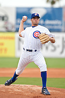 Kenneth McNutt of the Daytona Cubs during the game against the Clearwater Threshers July 4 2010 at Jackie Robinson Ballpark in Daytona Beach, Florida.  Photo By Scott Jontes/Four Seam Images