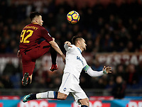 Calcio, Serie A: AS Roma - Atalanta, Roma, stadio Olimpico, 6 gennaio 2018.<br /> AS Roma's captain Stephan El Shaarawy (l) in action with Atalanta's Rafael Toloi (r) during the Italian Serie A football match between AS Roma and Atalanta at Rome's Olympic stadium, January 6 2018.<br /> UPDATE IMAGES PRESS/Isabella Bonotto
