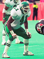 James King Saskatchewan Roughriders 1991. Photo F. Scott Grant