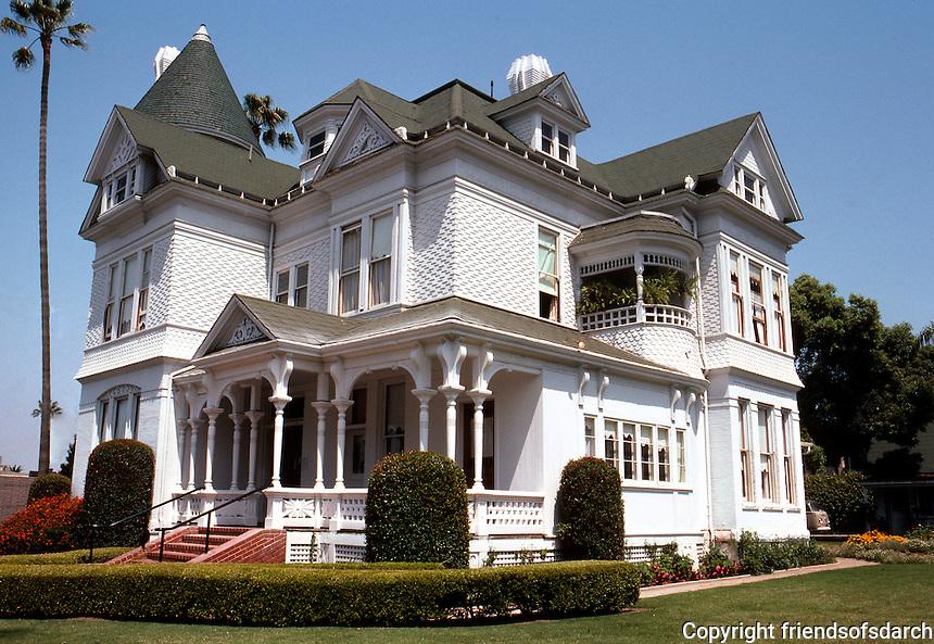 San Diego: Peter Britt House, 406 Maple. 3/4 elevation. Queen Anne Victorian, 1889. Photo '80.